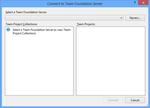 ConnectToTeamFoundationServer